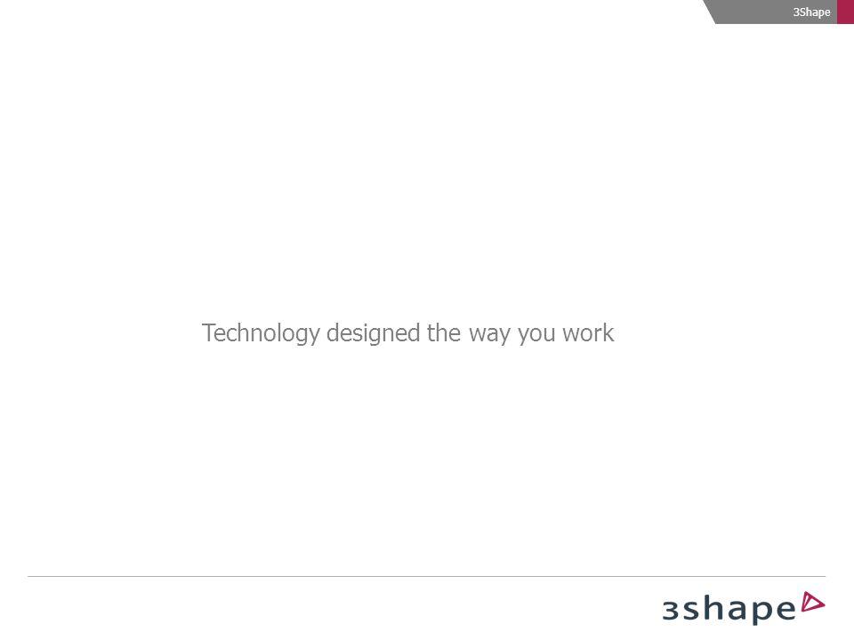 3Shape Technology designed the way you work
