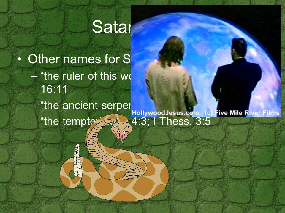 Satan's methods/schemes He is a counterfeiter.–Planting false believers among believers.