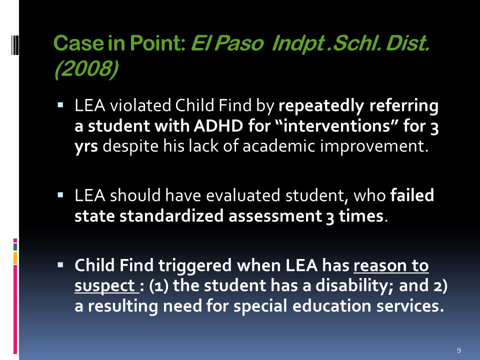 Case in Point: El Paso Indpt.Schl.Dist.