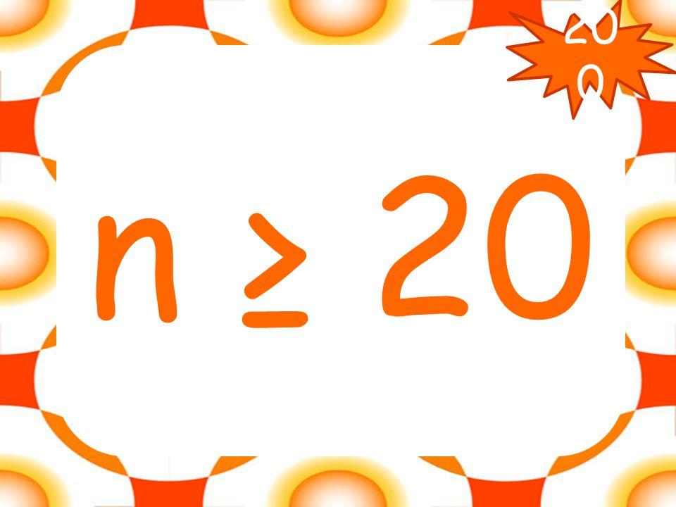 Solve: 2n - 8 ≥ 32