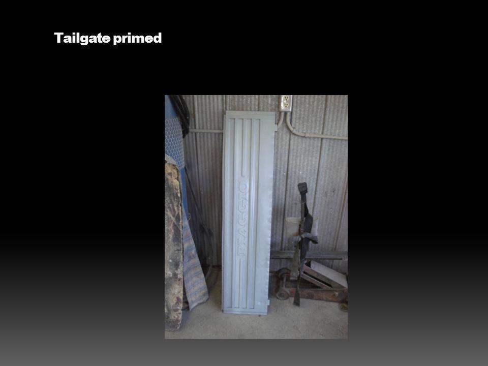 Tailgate primed