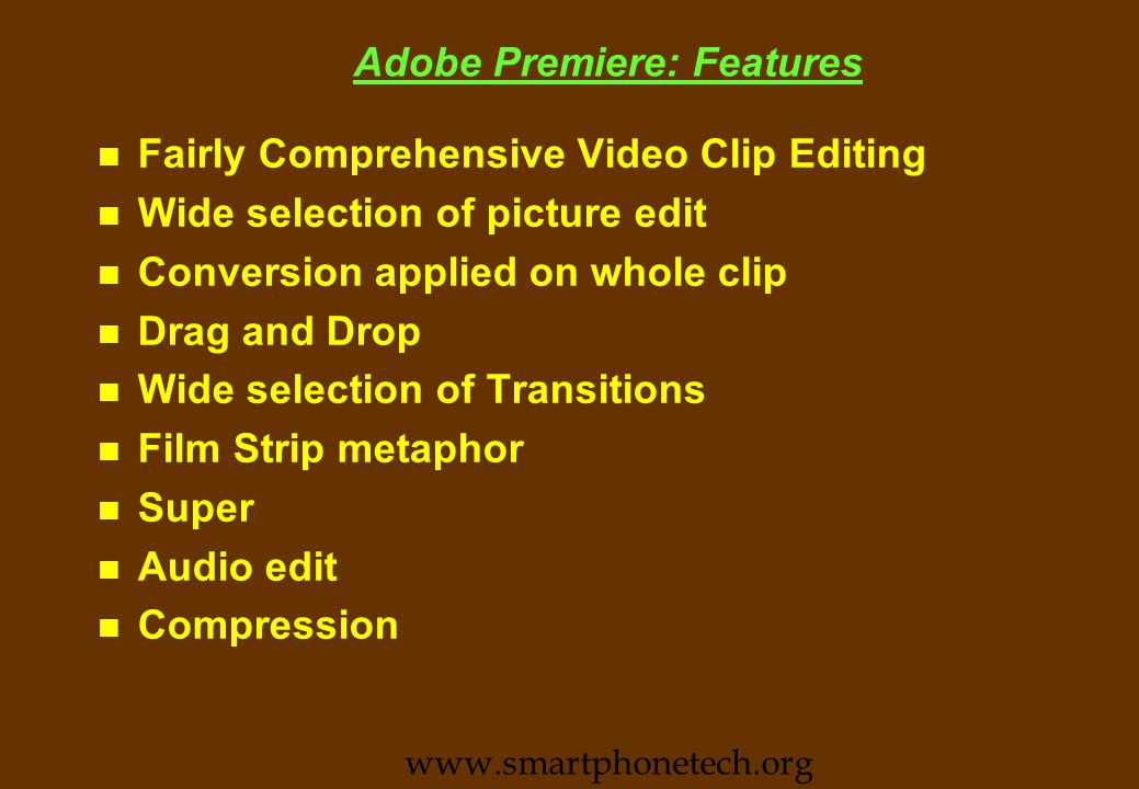 VidEdit Features n Basic Video File Edit Tool.