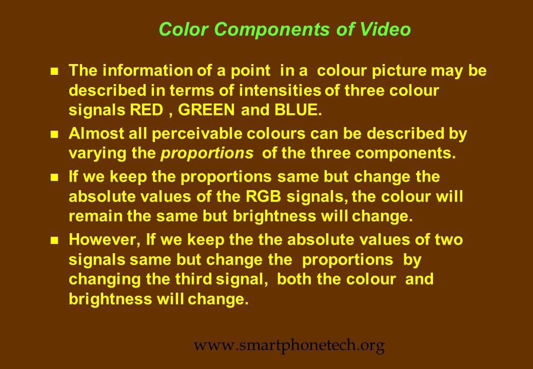 Television Broadcast Standards www.smartphonetech.org