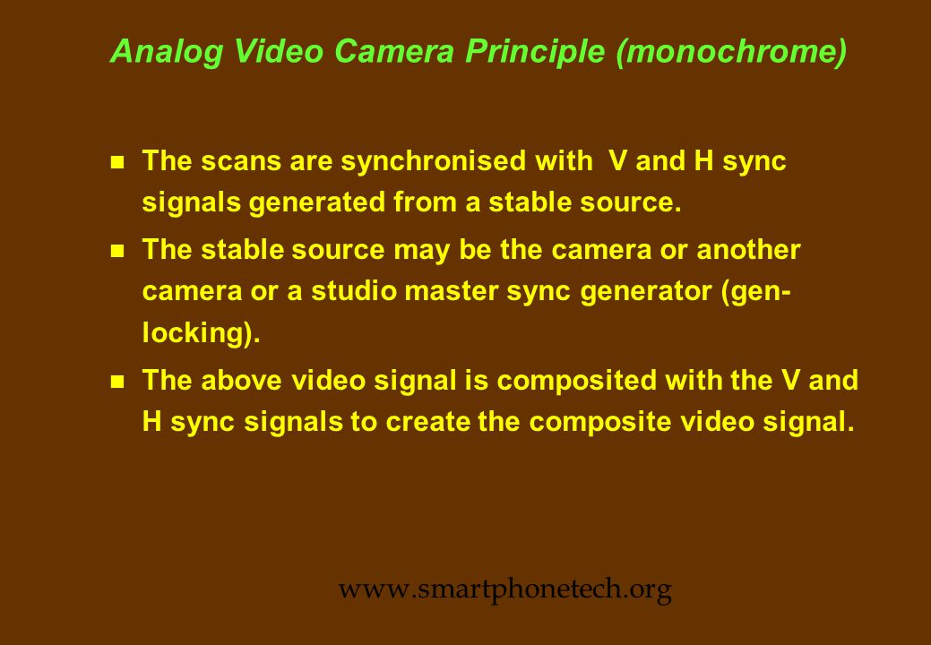 Analog Video Camera Principle www.smartphonetech.org