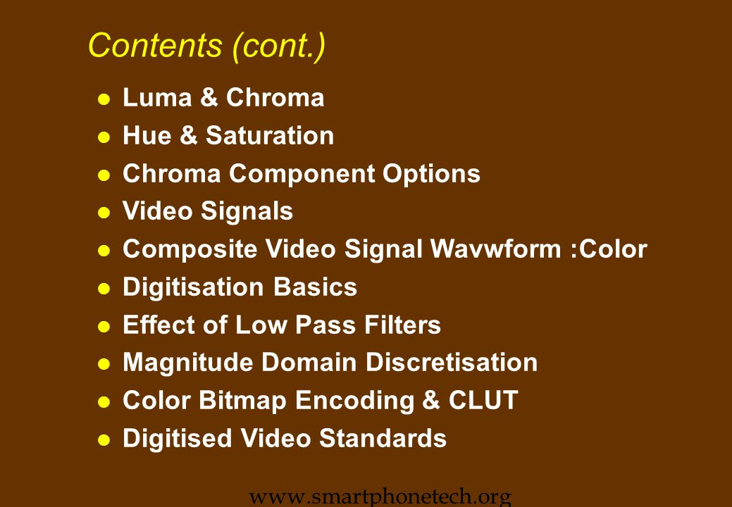 Video Editing Primer n Contents: lConcepts lTools lAdobe Premiere lStory board www.smartphonetech.org
