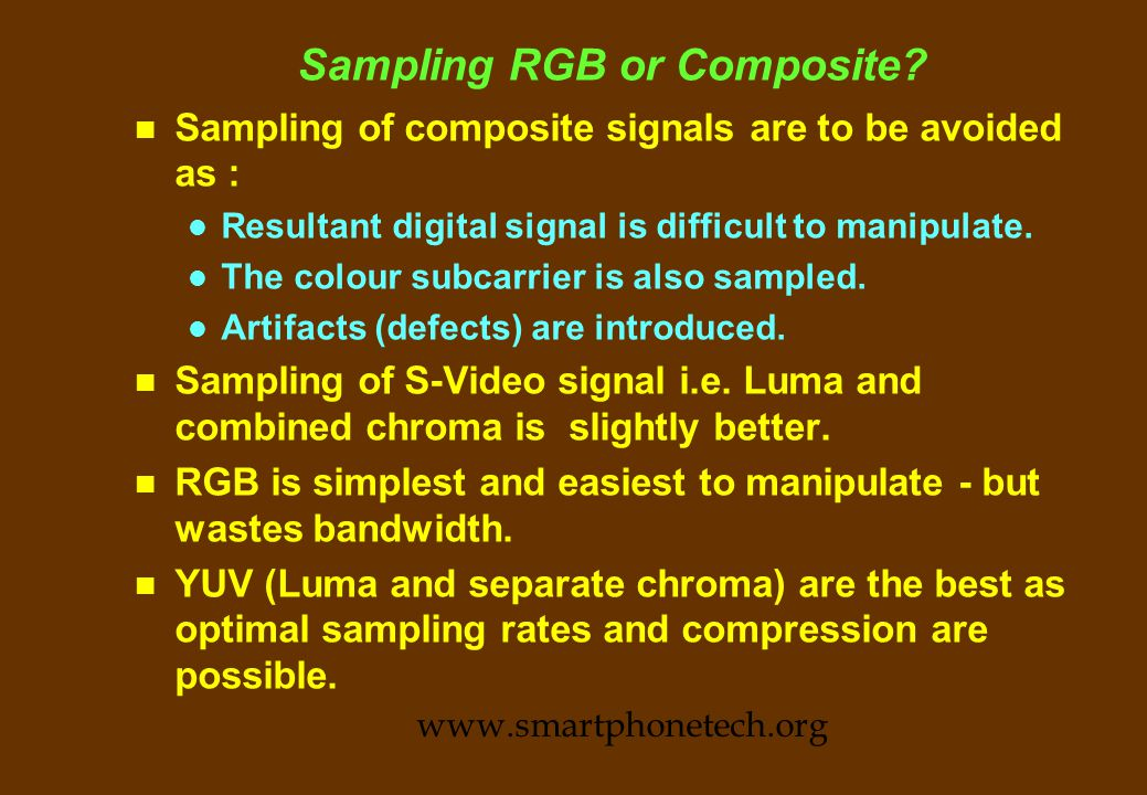Sampling and Nyquist (contd.) www.smartphonetech.org