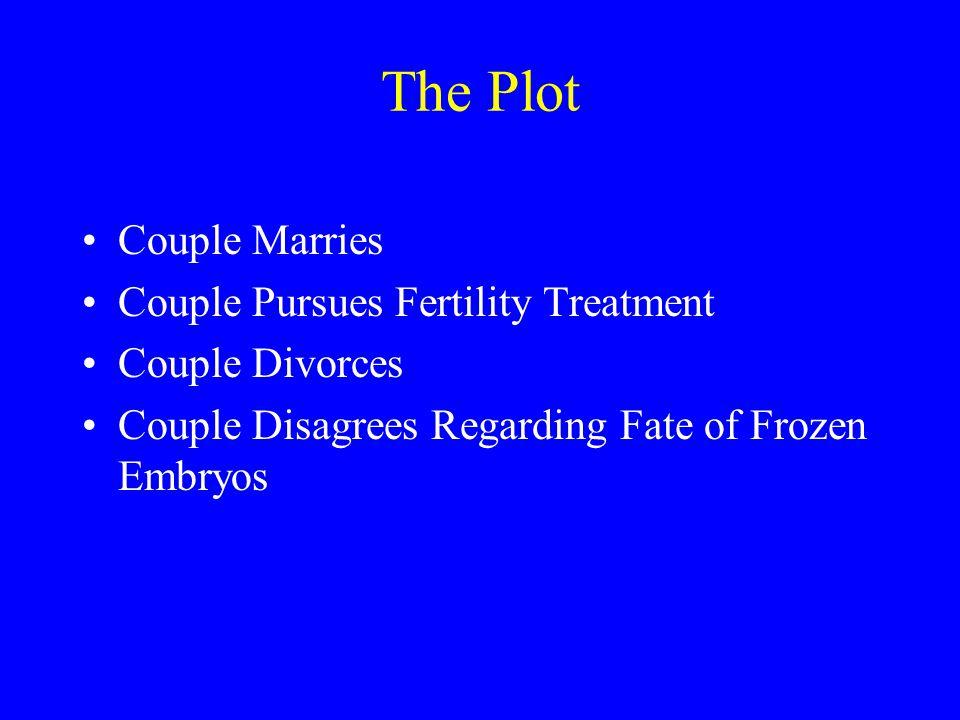 The Plot Couple Marries Couple Pursues Fertility Treatment Couple Divorces Couple Disagrees Regarding Fate of Frozen Embryos