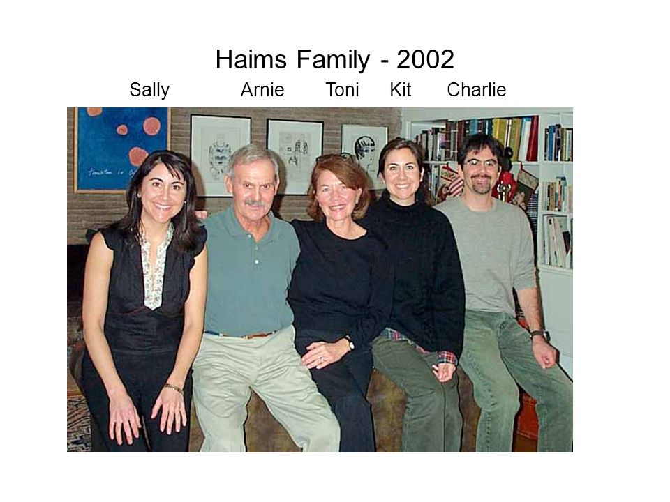 Haims Family - 2002 Sally Arnie Toni Kit Charlie