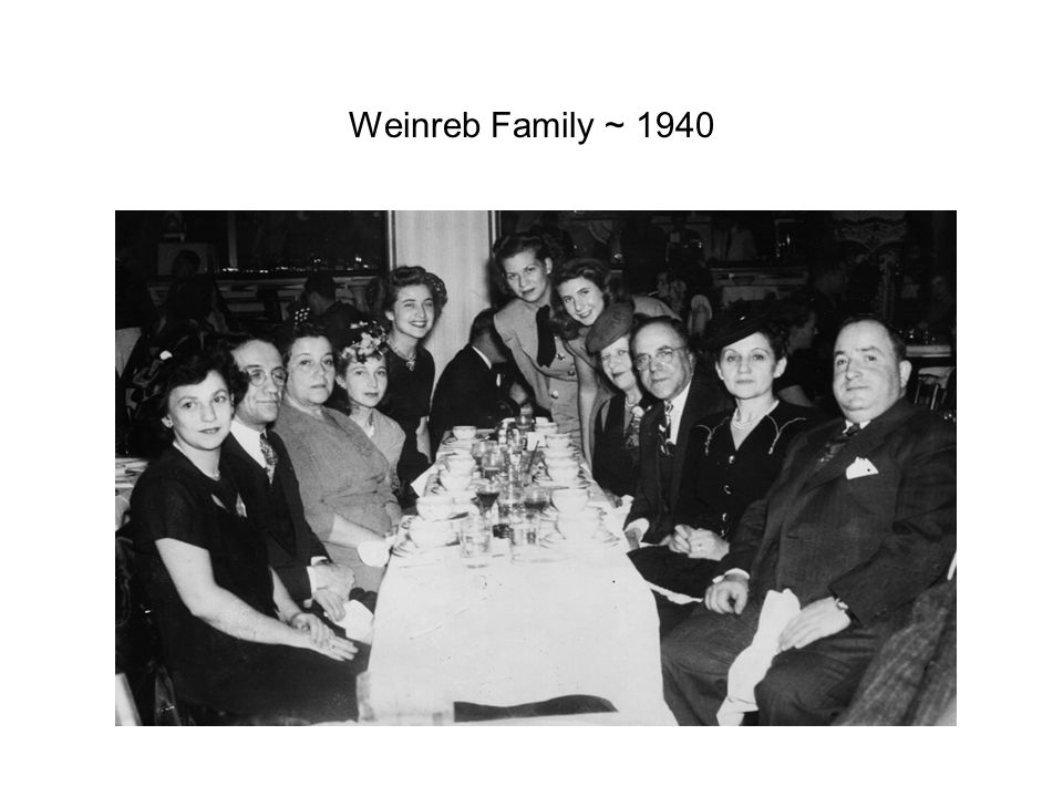 Weinreb Family ~ 1940