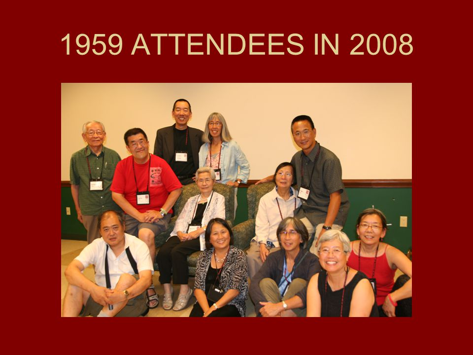 1959 ATTENDEES IN 2008