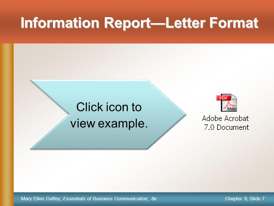Chapter 9, Slide 8 Mary Ellen Guffey, Essentials of Business Communication, 8e Letterhead stationery.