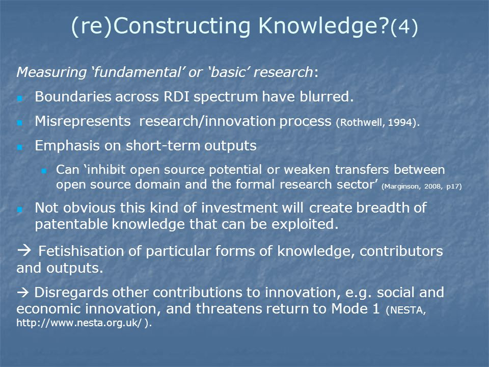 (re)Constructing Knowledge.