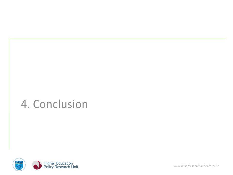 www.dit.ie/researchandenterprise 4. Conclusion