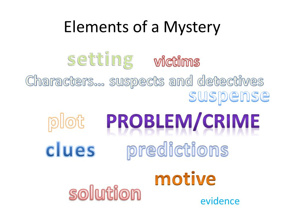 Elements of a Mystery evidence