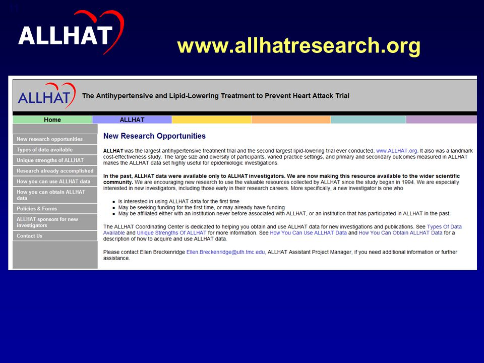 www.allhatresearch.org 11 ALLHAT