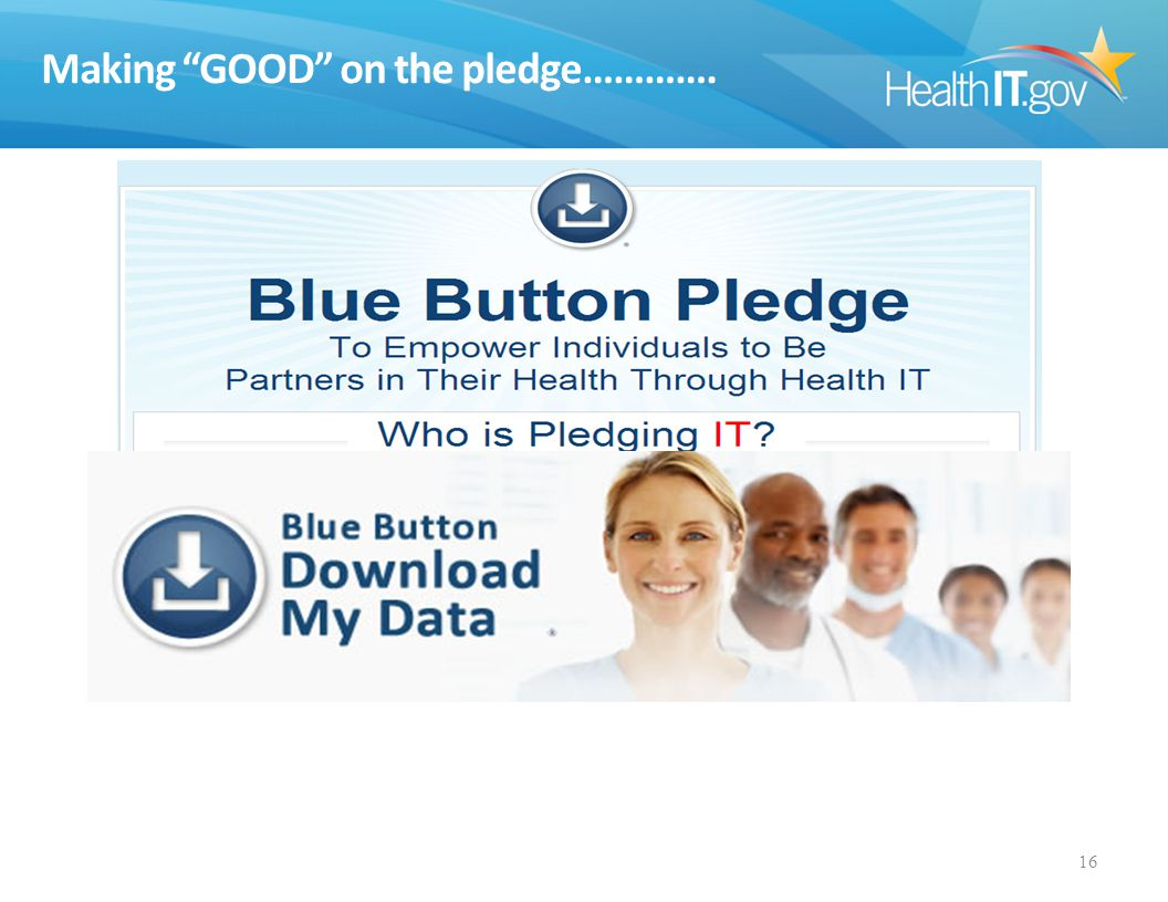 Making GOOD on the pledge…………. 16