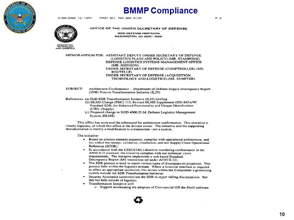 10 BMMP Compliance