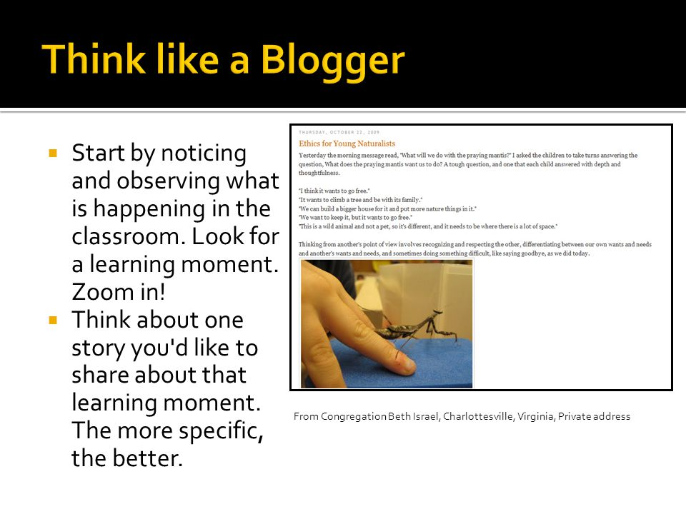  Start by noticing and observing what is happening in the classroom.