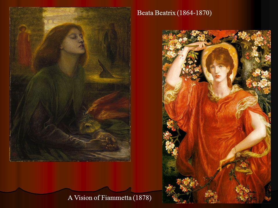 Beata Beatrix (1864-1870) A Vision of Fiammetta (1878)