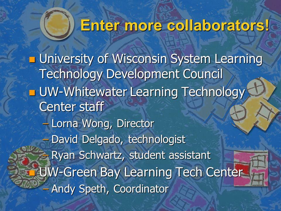 Enter more collaborators.