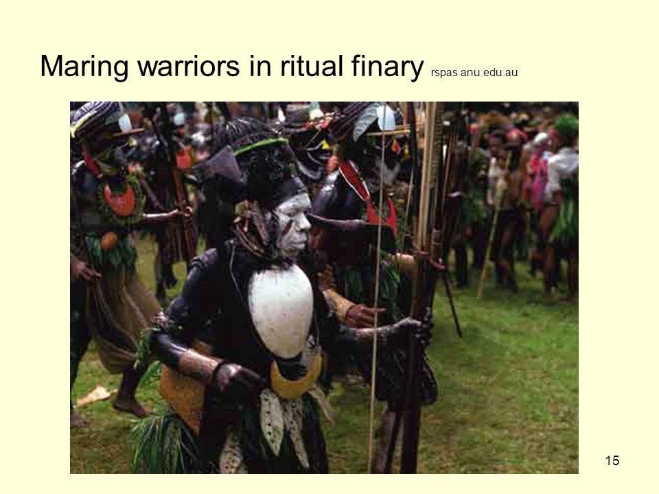 15 Maring warriors in ritual finary rspas.anu.edu.au