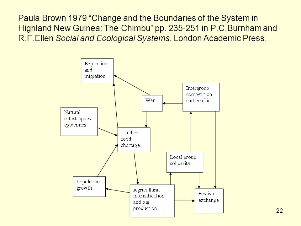 22 Paula Brown 1979 Change and the Boundaries of the System in Highland New Guinea: The Chimbu pp.
