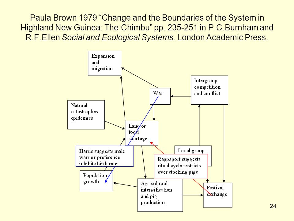 24 Paula Brown 1979 Change and the Boundaries of the System in Highland New Guinea: The Chimbu pp.