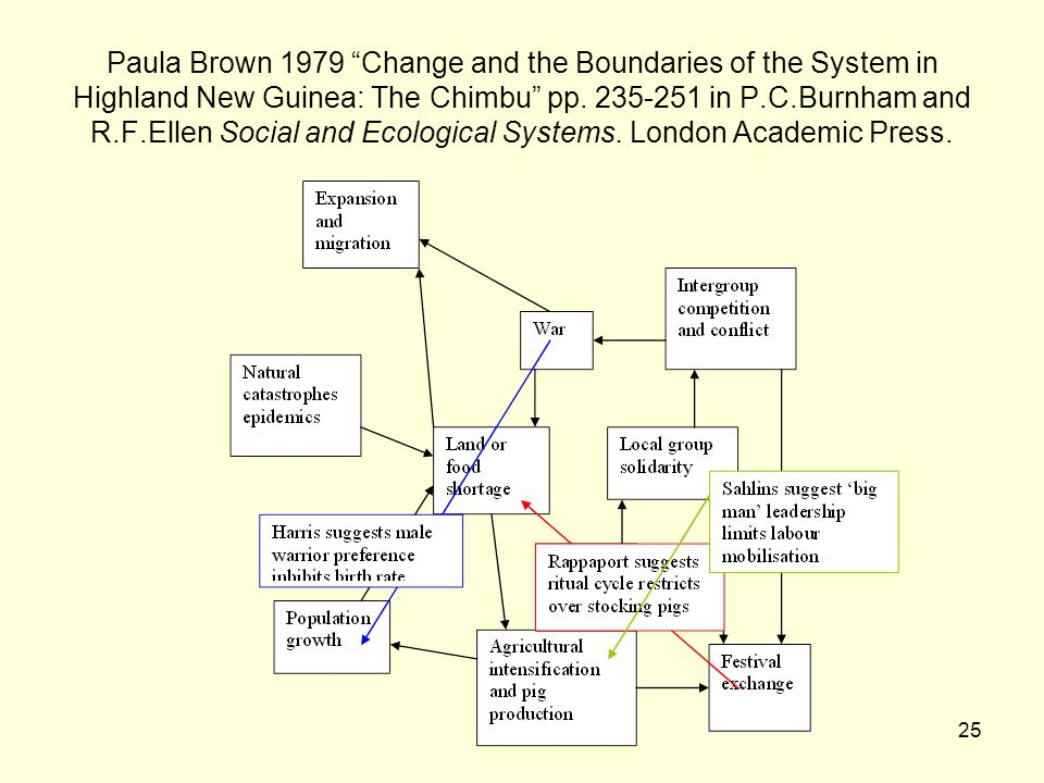 25 Paula Brown 1979 Change and the Boundaries of the System in Highland New Guinea: The Chimbu pp.