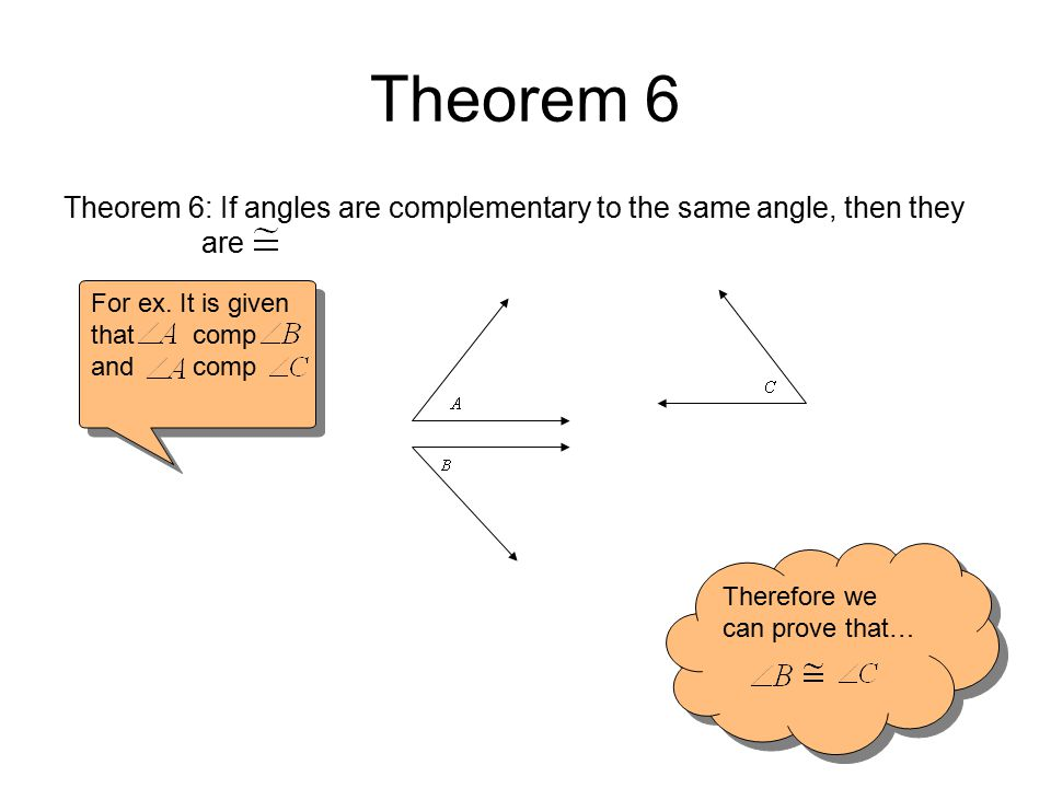 Sample Problem Thm.6 Given: comp comp Conclusion: StatementsReasons 1.