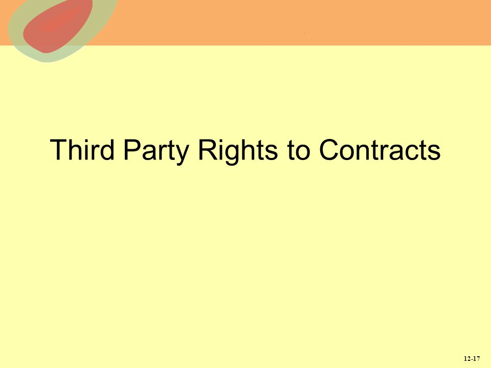 12-17 Third Party Rights to Contracts