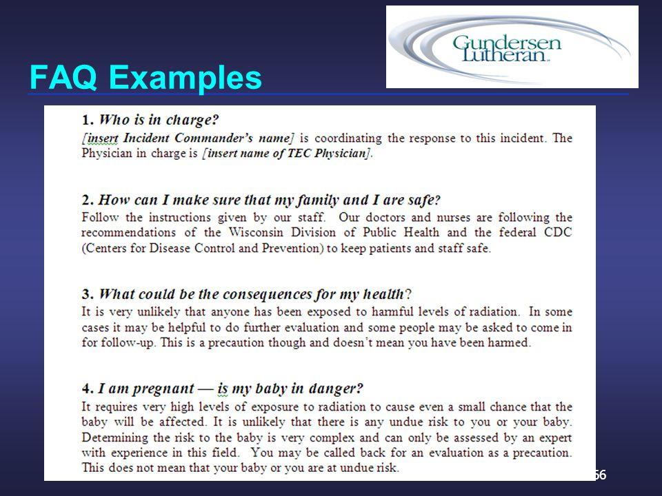 FAQ Examples 66