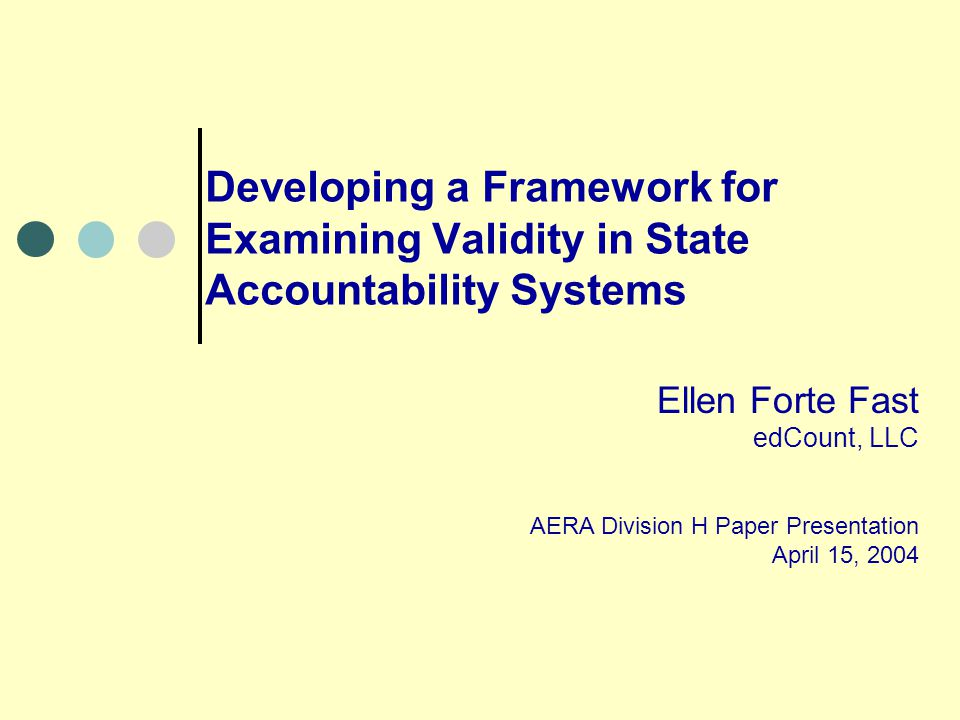 Validity in Accountability Systems An accountability system can be said to have validity when the evidence is judged to be strong enough to support the inferences that: [1] the components of the system are aligned to the purposes, and are working in harmony to help the system accomplish those purposes; and [2] the system is accomplishing what was intended (and did not accomplish what was not intended.) (Marion et al, 2002, p.