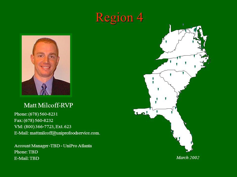Region 4 March 2002 Phone: (678) 560-8231 Fax: (678) 560-8232 VM: (800) 366-7723, Ext.