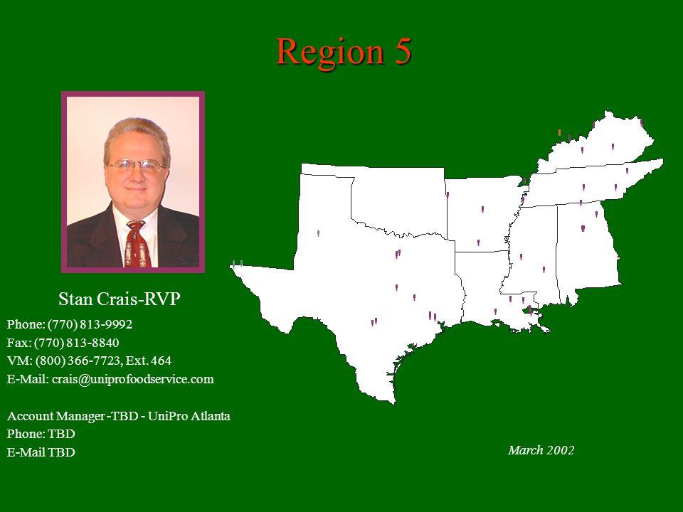 Region 5 March 2002 Phone: (770) 813-9992 Fax: (770) 813-8840 VM: (800) 366-7723, Ext.