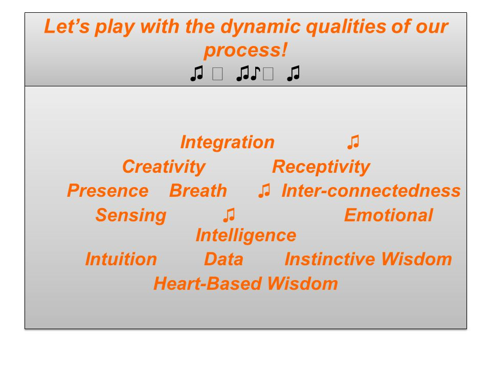 Let's play with the dynamic qualities of our process.