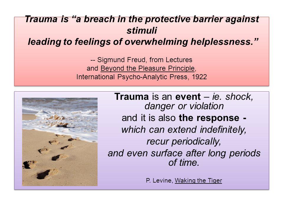 Trauma is an event – ie.