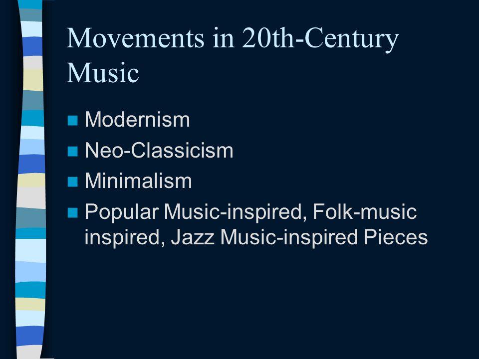20th Century Music (1900-2000)
