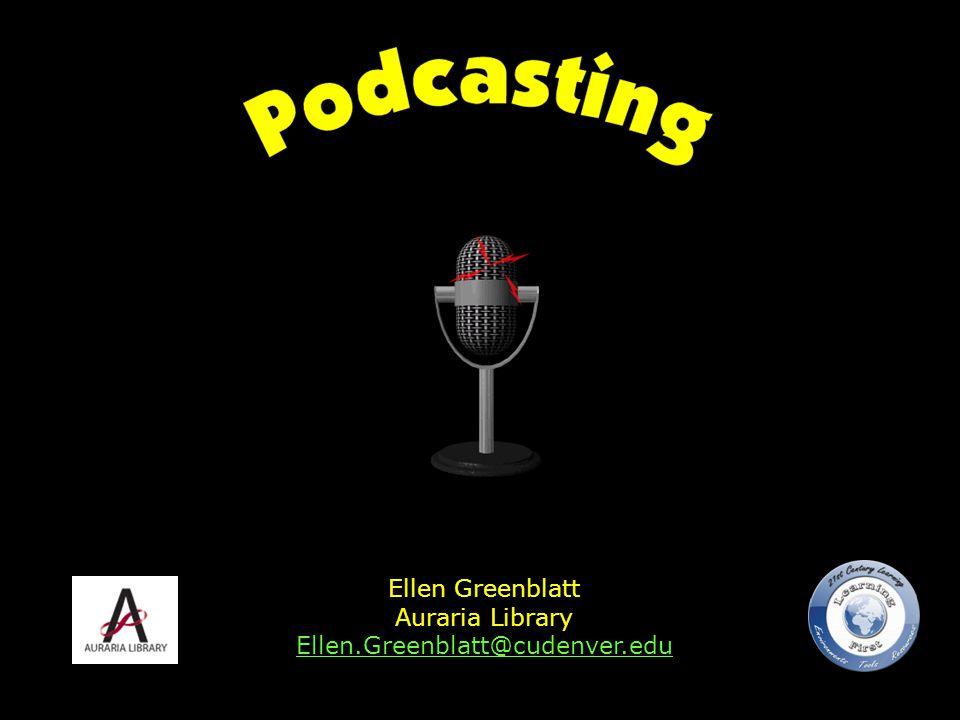 Ellen Greenblatt Auraria Library Ellen.Greenblatt@cudenver.edu Ellen.Greenblatt@cudenver.edu