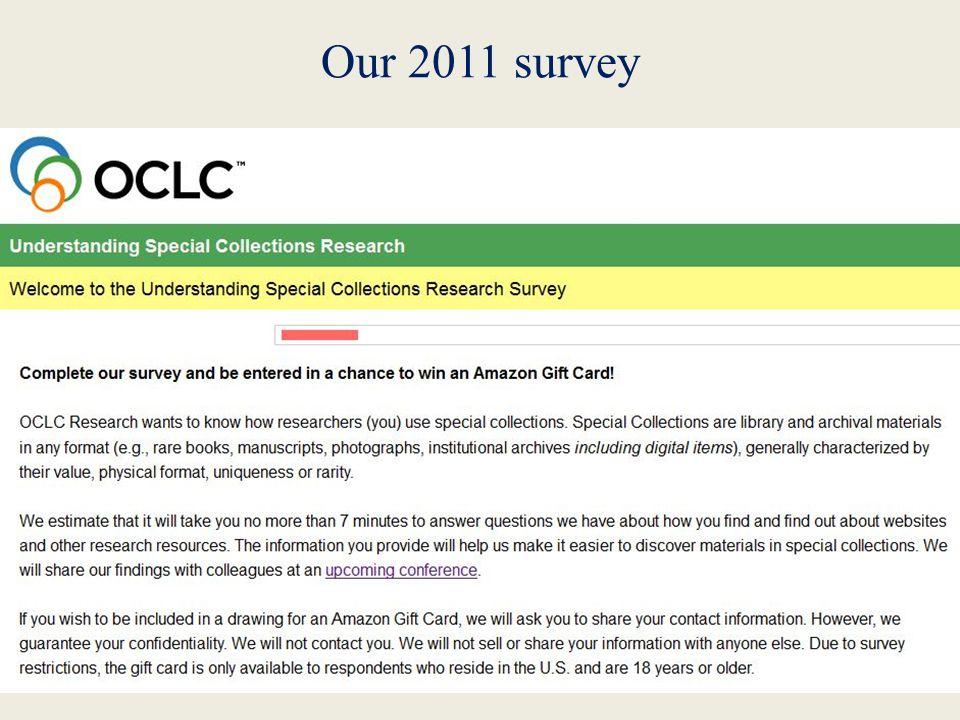 Our 2011 survey