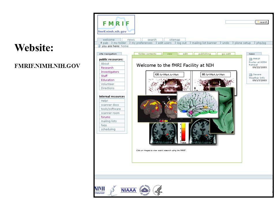 Website: FMRIF.NIMH.NIH.GOV