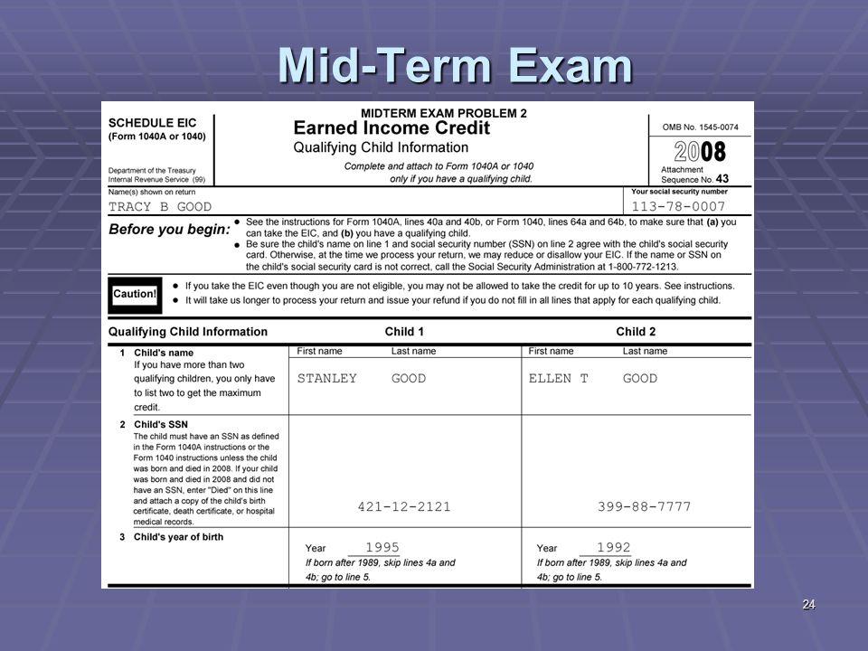 24 Mid-Term Exam