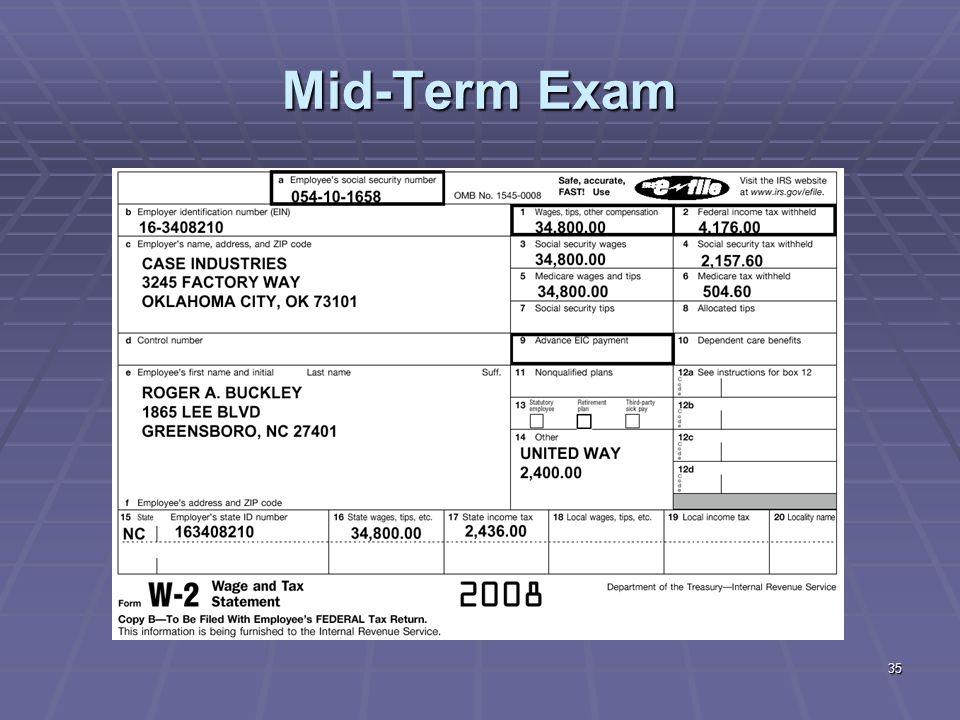 35 Mid-Term Exam