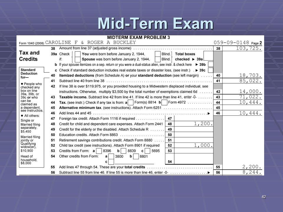 42 Mid-Term Exam