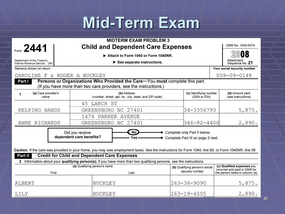 48 Mid-Term Exam