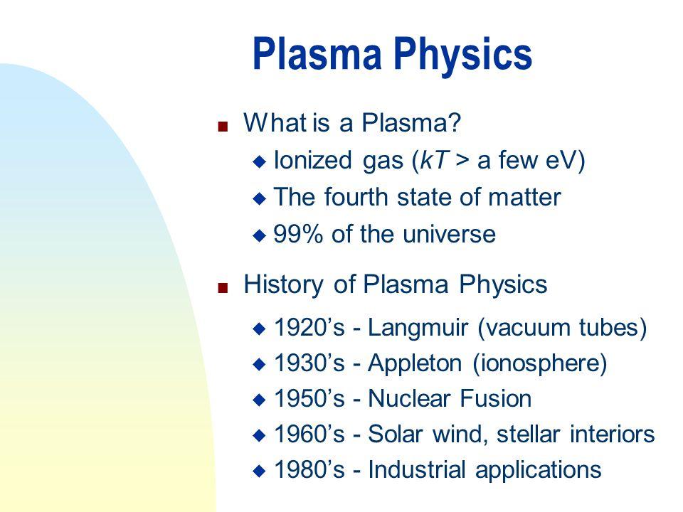 Wisconsin Plasma Physics Program n Began in 1962 by Donald W.