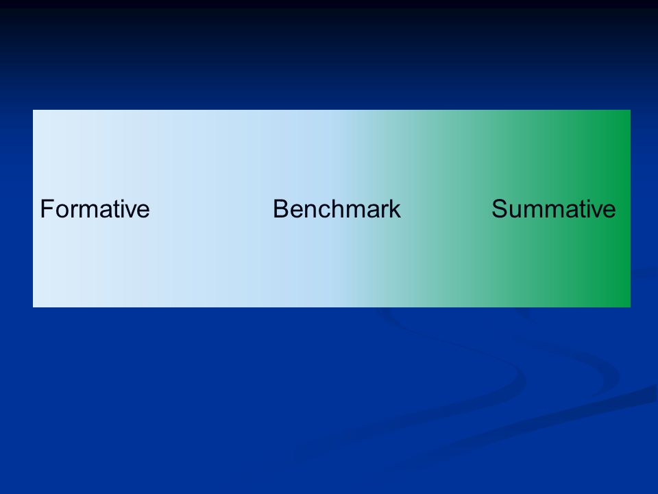 Formative Benchmark Summative