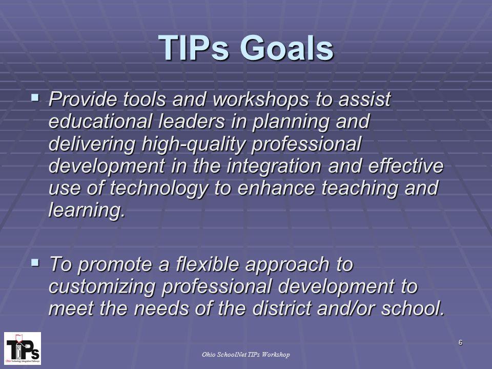 Ohio SchoolNet TIPs Workshop Research Supports Job-Embedded Learning 17 Copyright, 2000 Ellen Maddin, Ed.D., HCESC