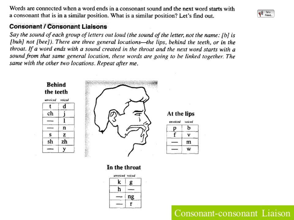 Consonant-consonant Liaison