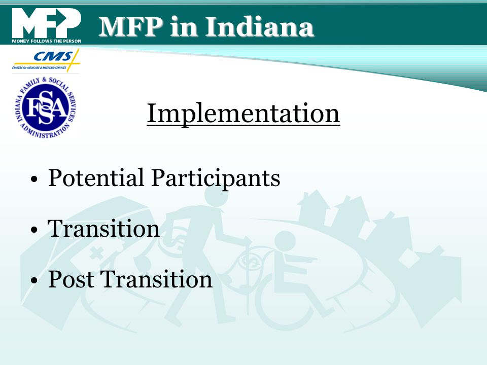 MFP in Indiana Potential Participants Transition Post Transition Implementation