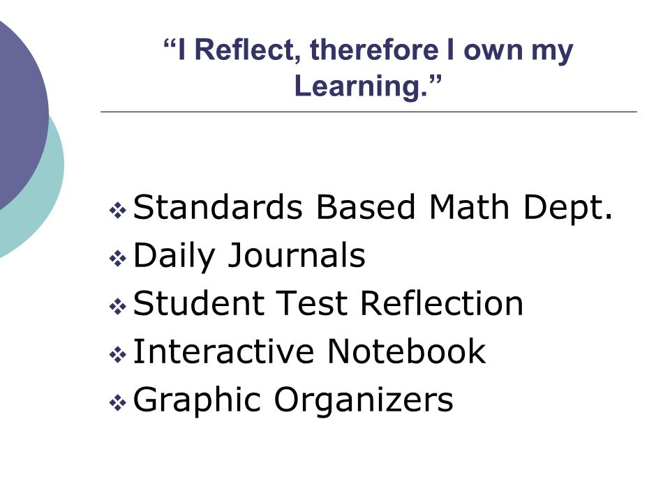 Fitz Intermediate School Standards Based Math Department What does it look like?